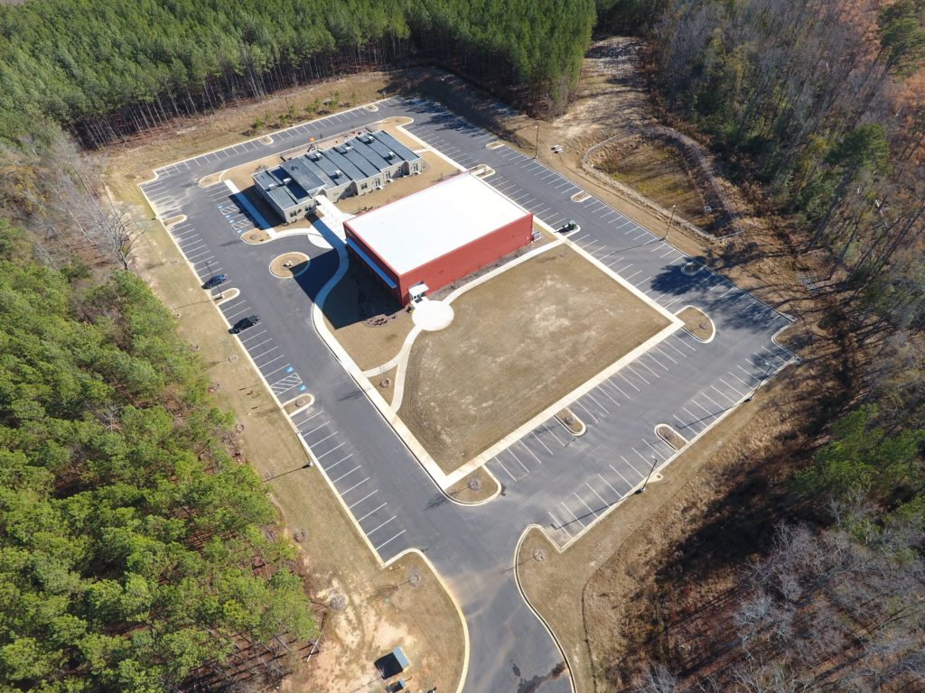 Aerial view of Quest site